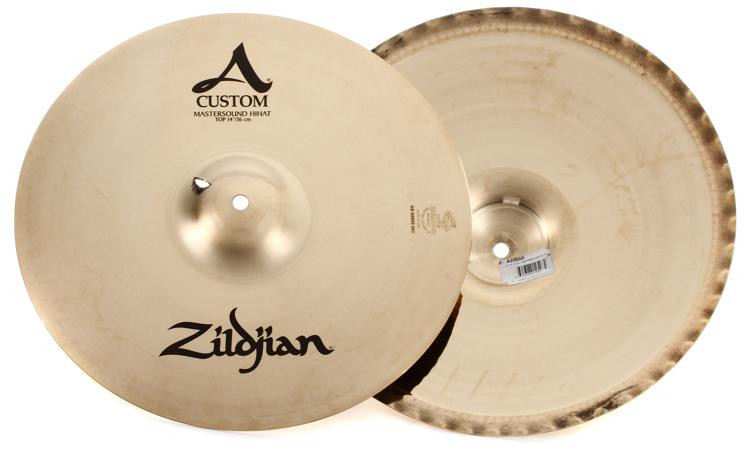 zildjian 14 a custom mastersound hi hat cymbals sweetwater. Black Bedroom Furniture Sets. Home Design Ideas