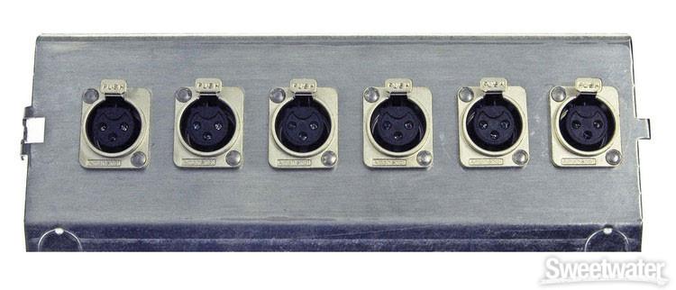 Pro Co FP6 Series Floor Plate - (6) XLR F image 1