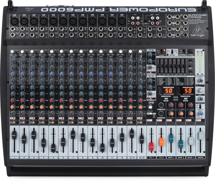 Behringer Europower PMP6000 20-channel 1600W Powered Mixer image 1