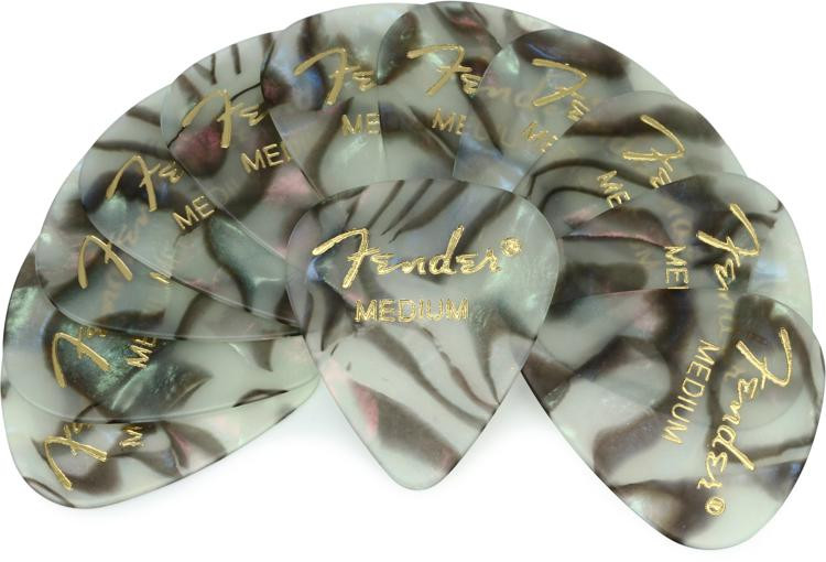 Fender 351 Premium Guitar Picks - Medium Abalone - 12-Pack image 1