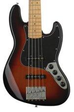Fender Deluxe Active J Bass V - 3-color Sunburst with Maple Fingerboard
