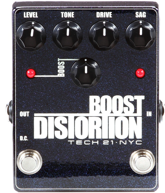 tech 21 boost distortion metallic pedal sweetwater. Black Bedroom Furniture Sets. Home Design Ideas