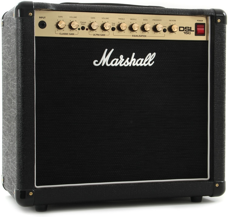 marshall dsl15c 15 7 5 watt 1x12 tube combo amp sweetwater. Black Bedroom Furniture Sets. Home Design Ideas