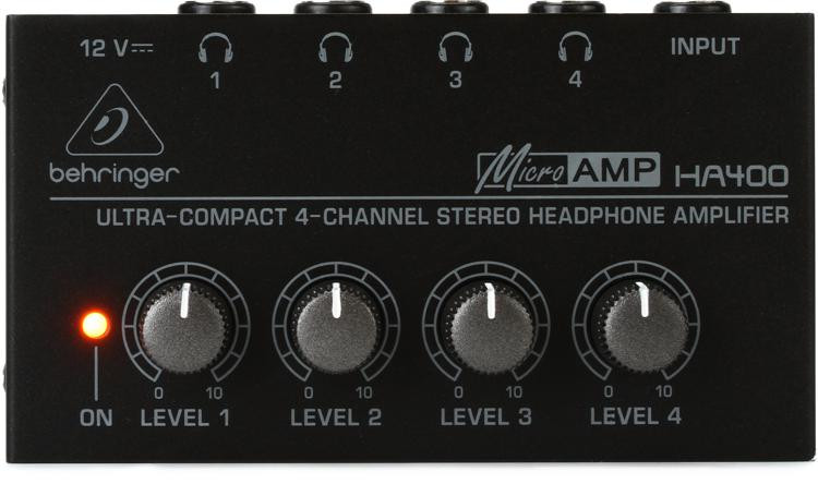 Behringer MicroAMP HA400 4-Ch Headphone Amplifier image 1
