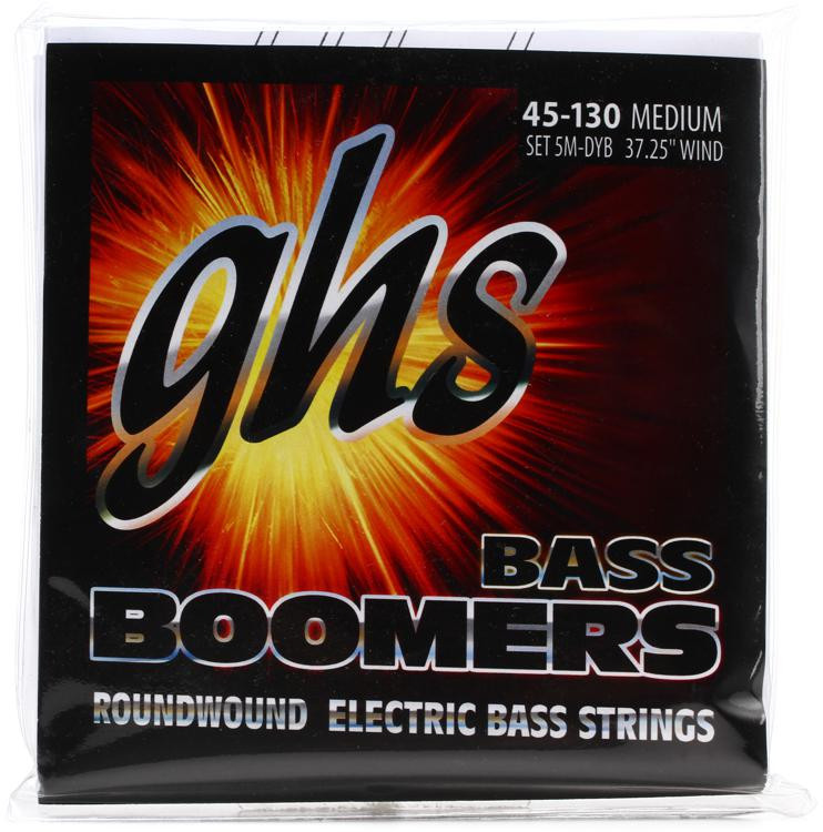 GHS 5M-DYB Bass Boomers Roundwound Long Scale Medium Electric Bass Strings 5-String image 1