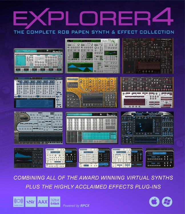 Rob Papen eXplorer4 Bundle - Upgrade from 3 or More Rob Papen Titles image 1