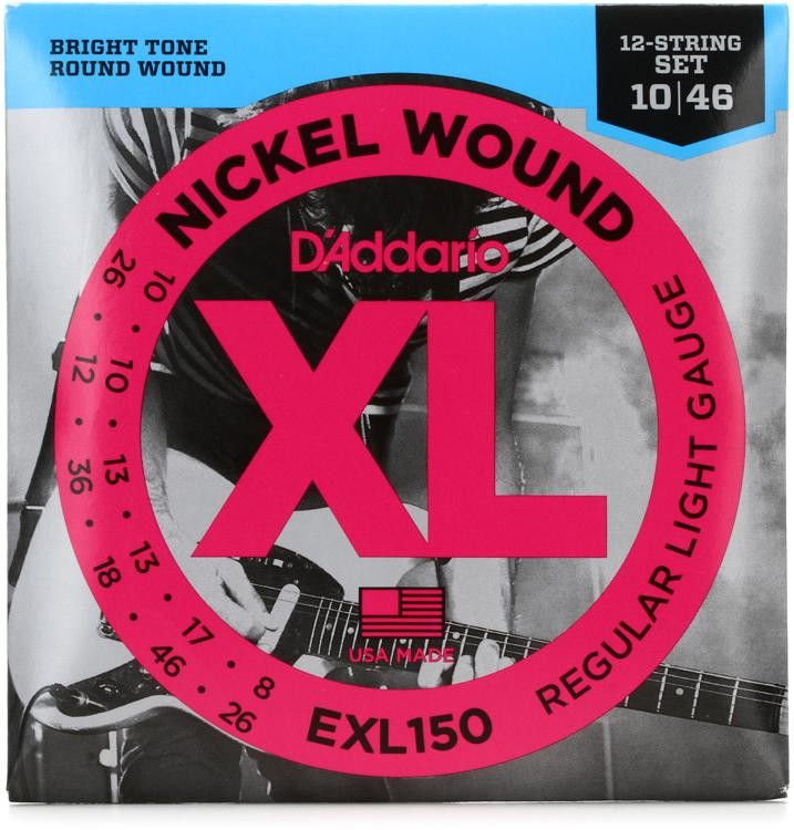 D\'Addario EXL150 Nickel Wound Light 12-String Electric Strings image 1
