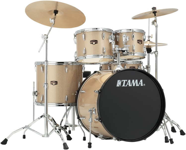 tama imperialstar complete drum set 5 piece 22 kick champagne mist sweetwater. Black Bedroom Furniture Sets. Home Design Ideas