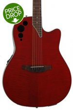 Ovation Applause AE44IIP Elite Plus, Mid-depth bowl - Transparent Cherry Flame