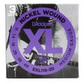 D'Addario EXL115-3D Nickel Wound Blues/Jazz Rock Electric Strings 3-Pk