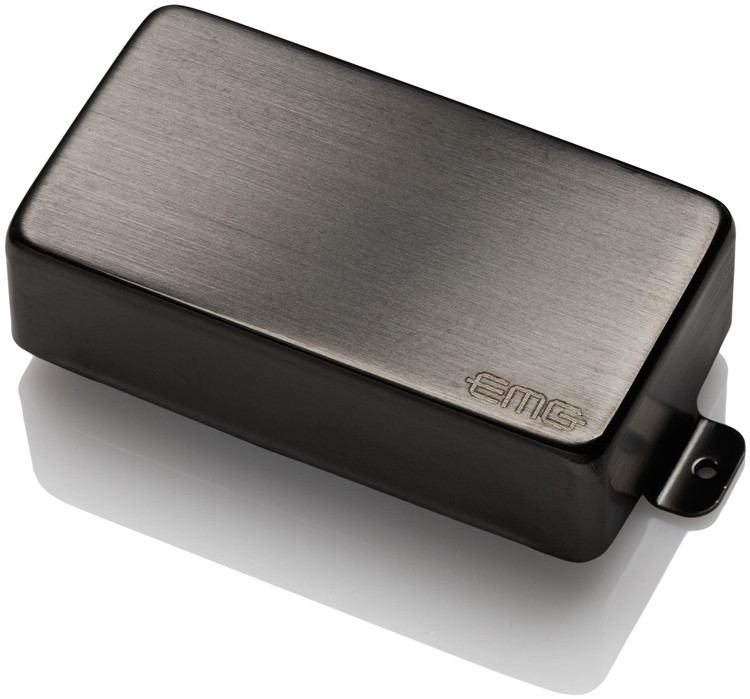 EMG 85 MetalWorks Active Alnico Humbucker Guitar Pickup Brushed Black Chrome image 1