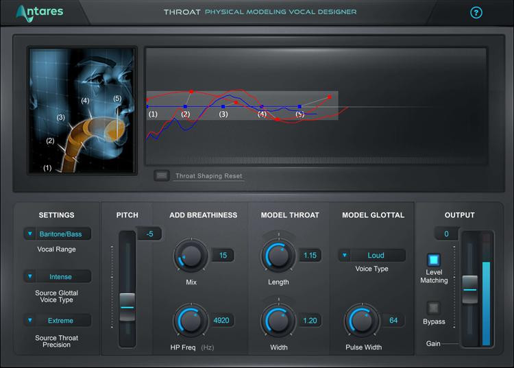 Antares THROAT Evo Vocal Modeling Plug-in image 1