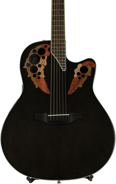 Ovation Elite Celebrity Super Shallow - Trans Black image 1