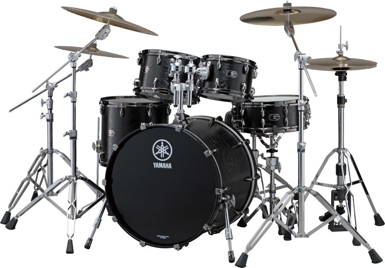Yamaha Live Custom 4-piece Shell Pack - Black Oak image 1