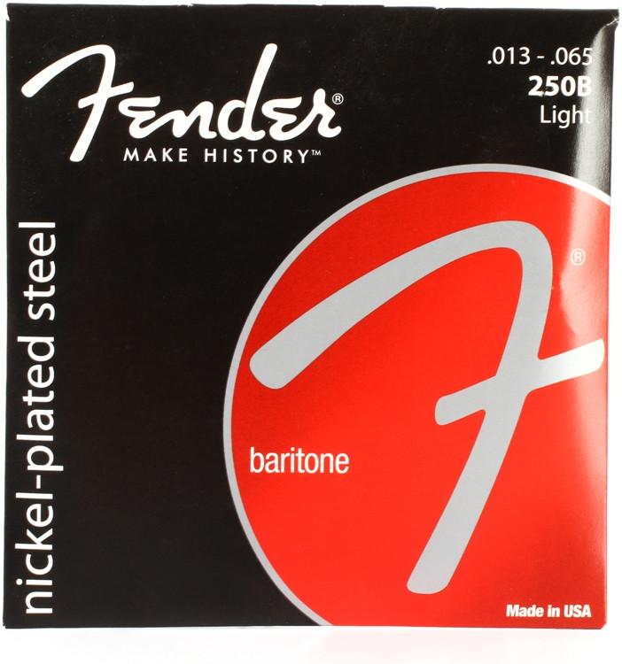 Fender Super 250B Nickel Plated Steel Baritone Light Electric Strings image 1