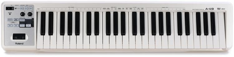 Roland A-49 Keyboard Controller - White image 1