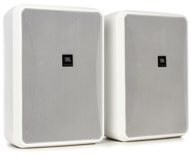 jbl control 28 1 8 indoor outdoor speakers white pair. Black Bedroom Furniture Sets. Home Design Ideas