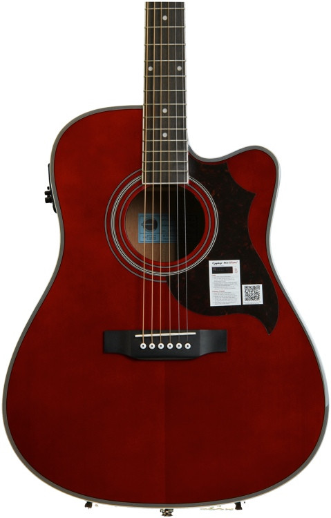Epiphone FT-350SCE with Min-ETune - Wine Red image 1