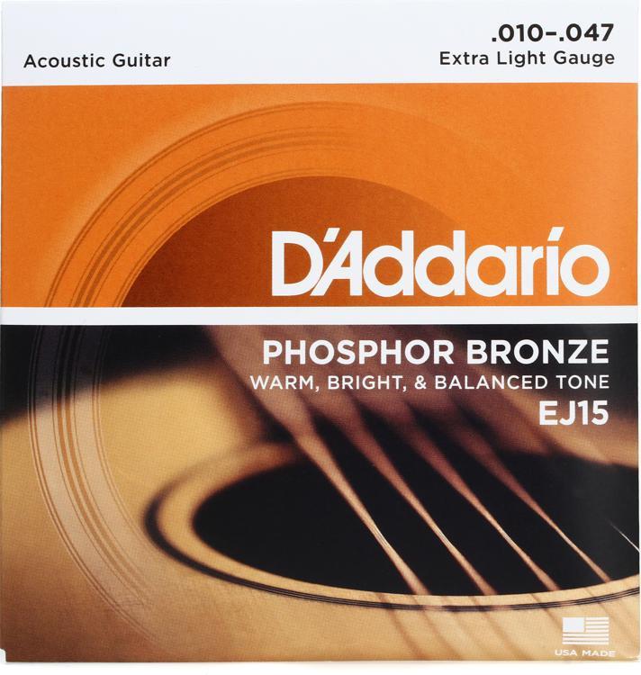 D\'Addario EJ15 Phosphor Bronze Extra Light Acoustic Strings image 1