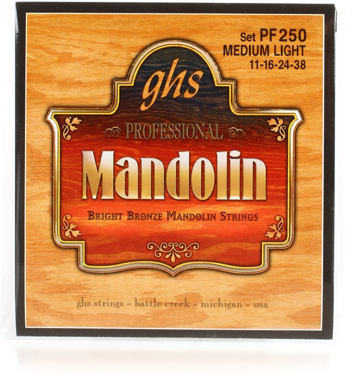 GHS PF250 Bright Bronze Mandolin Strings - .011-.038 Medium Light image 1