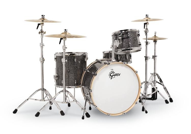 gretsch drums renown 3 piece rock shell pack w 24 kick blue metal sweetwater. Black Bedroom Furniture Sets. Home Design Ideas