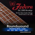Fodera 40120 Stainless Steel Roundwound 5-string Bass Strings - 0.040-0.120 Light
