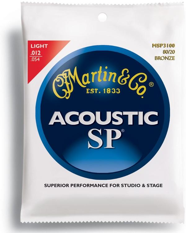 Martin MSP-3100 SP 80/20 Bronze Light Acoustic Strings image 1