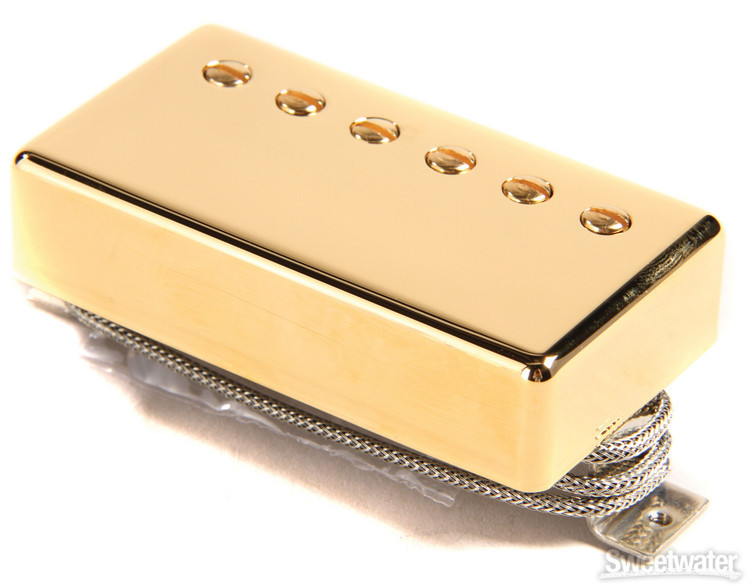 Gibson Accessories Burstbucker Type 1 Pickup - Gold, Neck or Bridge, 2-Conductor image 1
