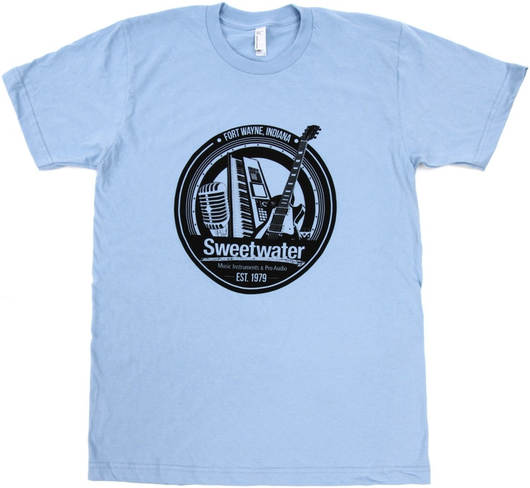Sweetwater Trinity Badge T-shirt - Baby Blue, Small image 1