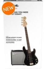 Squier PJ Bass Pack - Black