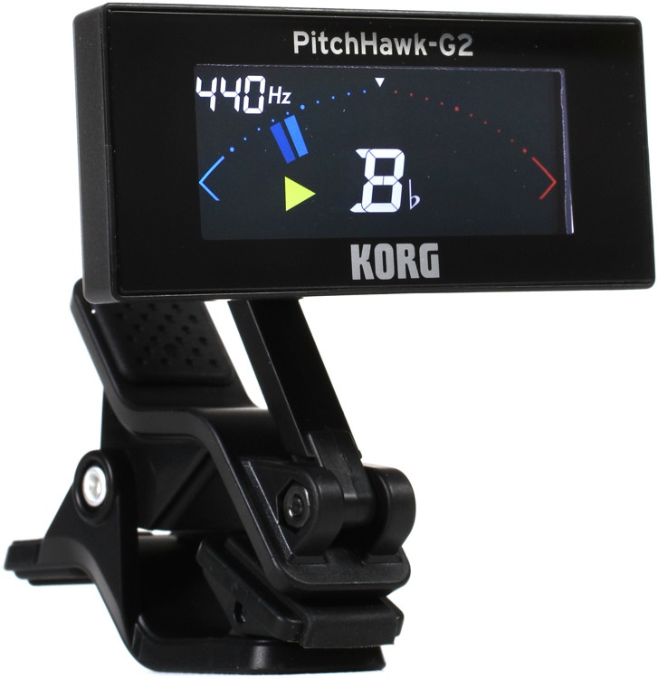 korg pitchhawk g2 compact clip on instrument tuner sweetwater. Black Bedroom Furniture Sets. Home Design Ideas