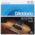 D'Addario EJ40 Silk and Steel Folk Acoustic Guitar Strings - .011-.047