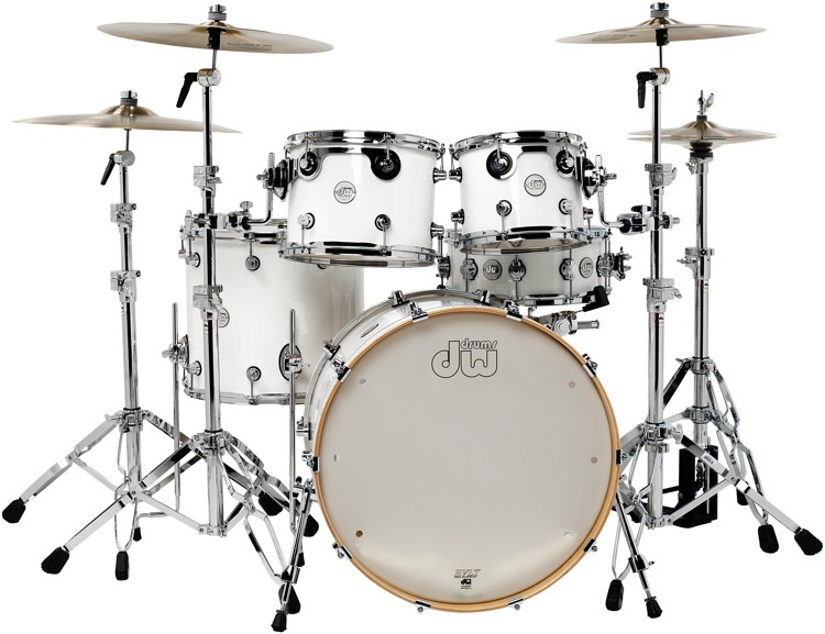 DW Design Series 5-piece Shell Pack - Gloss White image 1