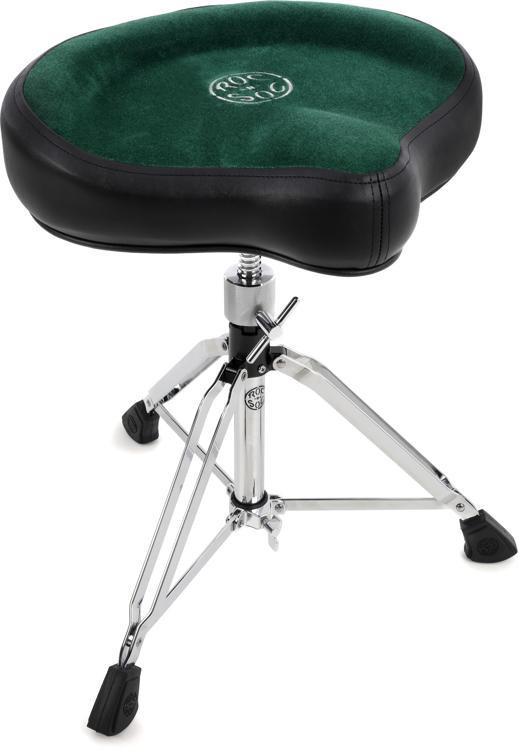 Roc-N-Soc Manual Spindle Drum Throne - Original Saddle, Green image 1