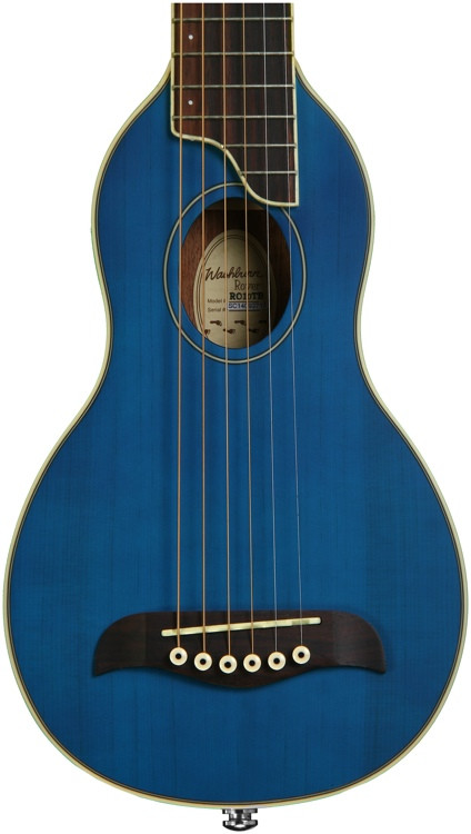 Washburn RO10 Rover Travel Guitar - Blue image 1