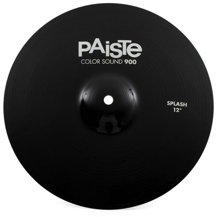paiste color sound 900 splash cymbal 12 black sweetwater. Black Bedroom Furniture Sets. Home Design Ideas
