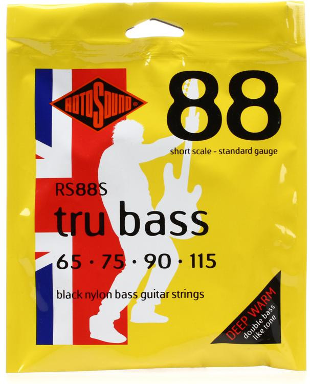 Rotosound RS88S Tru Bass 88 Black Nylon Tapewound Short Scale Bass Strings image 1