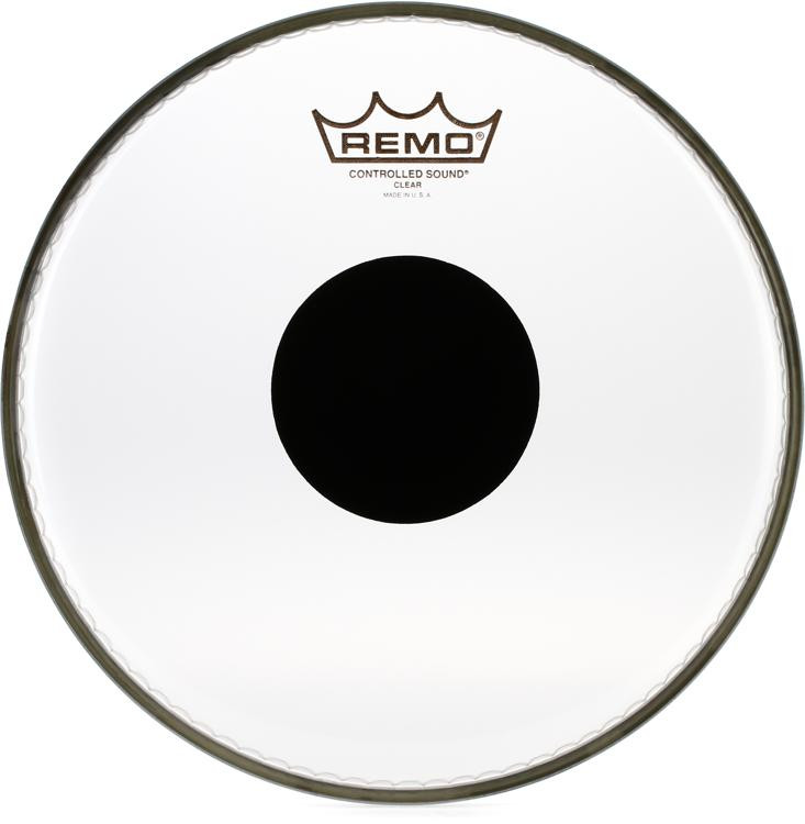 Remo Controlled Sound Clear/Black Dot Drumhead - 10
