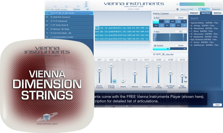 Vienna Symphonic Library Dimension Strings I - Full Library image 1