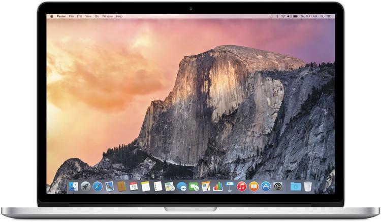 Apple 15-inch MacBook Pro with Retina display 2.2GHz Quad-core Intel Core i7, 256GB image 1