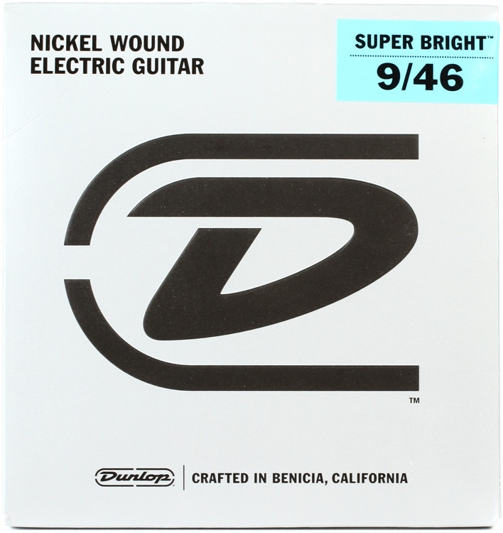 Dunlop DESBN0946 Super Bright Electric Strings - .009-.046 Light Hybrid image 1