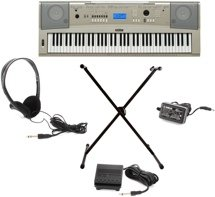 Yamaha YPG-235 Kit - with Survival Kit D2 and Keyboard X-stand
