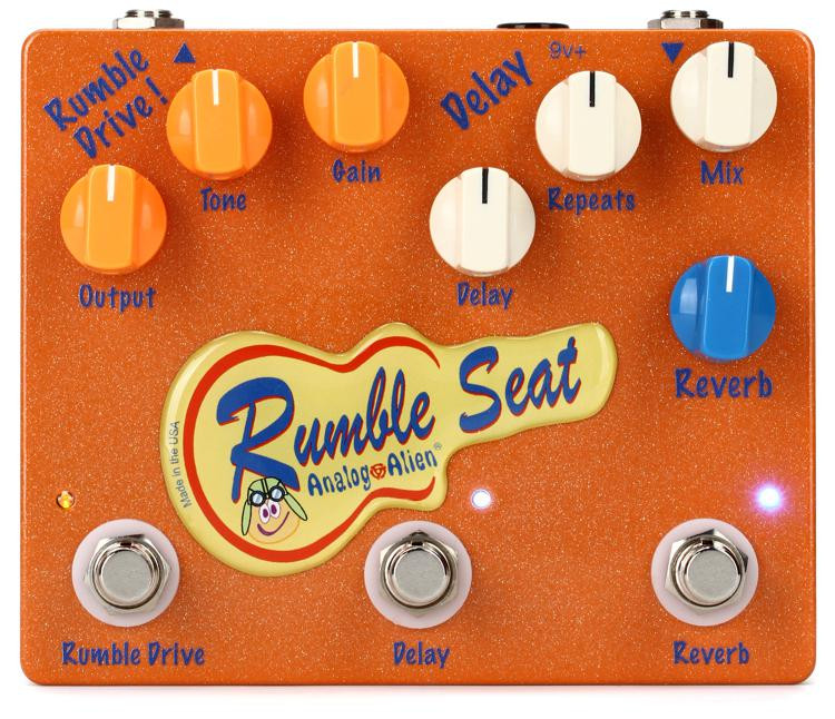 Analog Alien Rumble Seat Overdrive / Delay / Reverb Pedal image 1