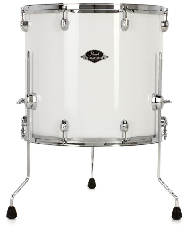 pearl export series floor tom 18 x 16 pure white sweetwater. Black Bedroom Furniture Sets. Home Design Ideas