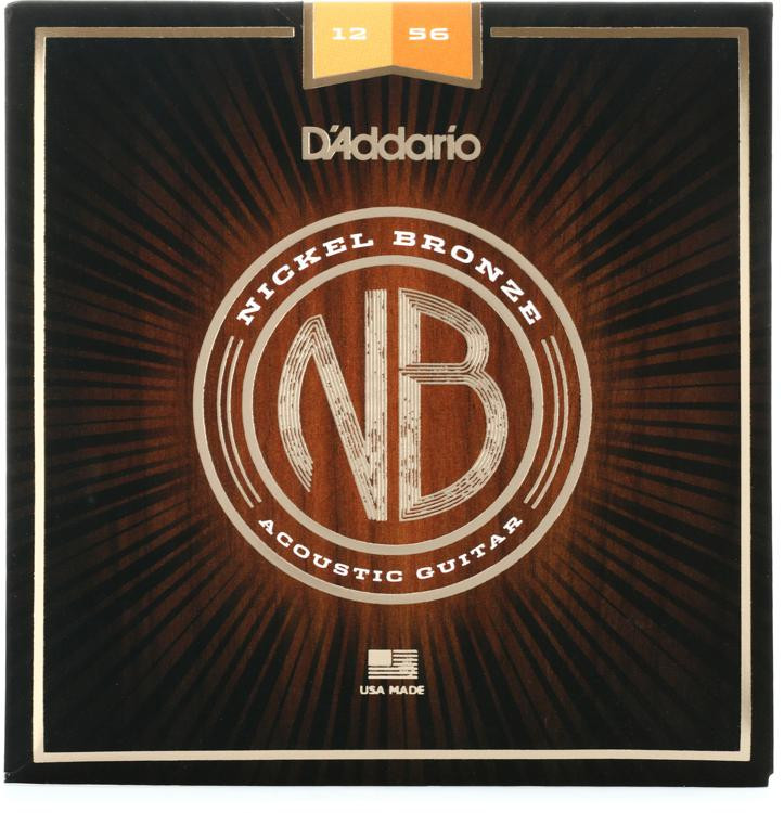 D\'Addario NB1256 Nickel Bronze Acoustic Strings .012-.056 Light Top/Medium Bottom image 1
