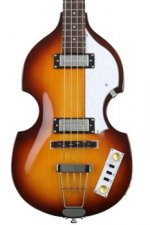 Hofner Ignition Violin Bass, Sweetwater Exclusive - Tea Cup Knobs & La Bella Flatwound Strings
