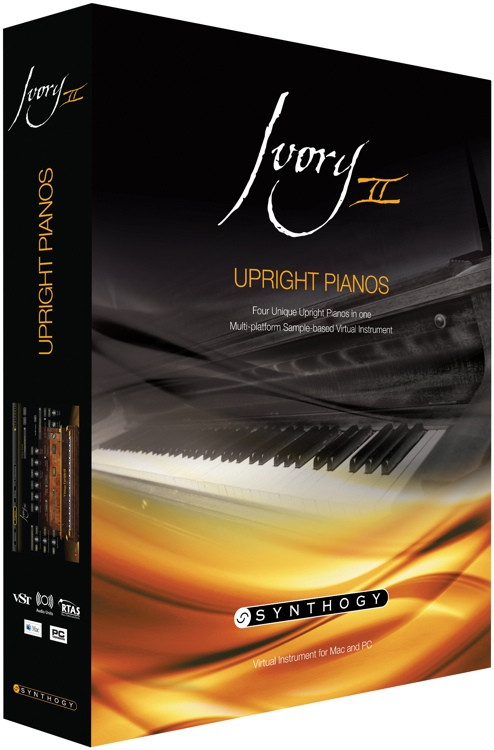 Ivory II Upright Pianos (boxed)