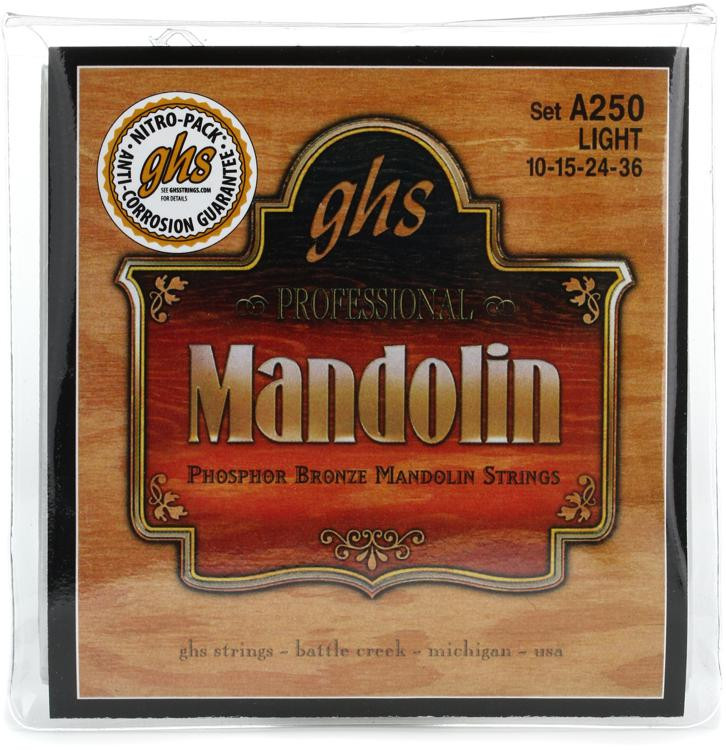 GHS A250 Phosphor Bronze Mandolin Strings - .010-.036 image 1