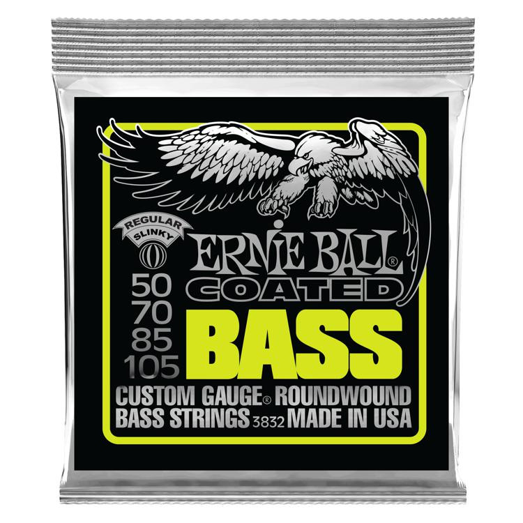 Ernie Ball 3832 Coated Regular Slinky Roundwound Bass Strings image 1