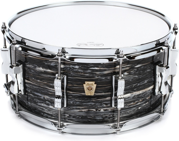 ludwig classic maple snare drum with p86 throw off 6 5 x 14 vintage black oyster pearl. Black Bedroom Furniture Sets. Home Design Ideas